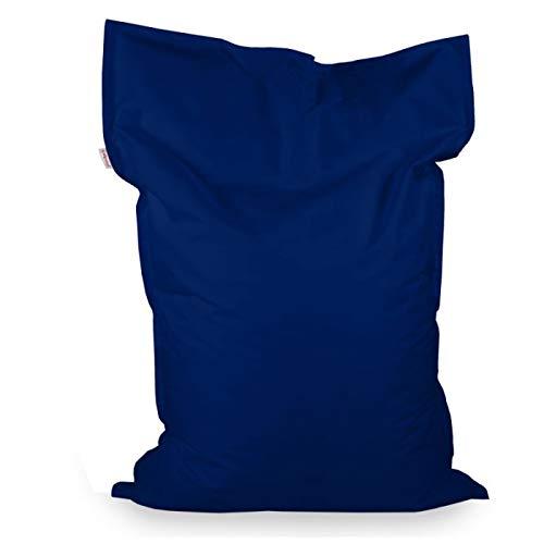 Italpouf Pouf Poire Rectangulaire pour Enfant XL Orange 98x135 cm 220l Rembourrage en Billes de polystyrene Outdoor