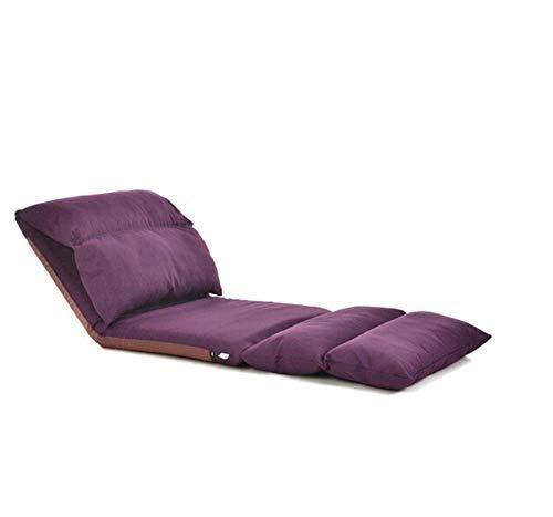 Tatami Sólido Tatami Cómodo sofá Perezoso Lavable Silla Trasera Espesa Lavada Sala de Estar Cama de Dormitorio Tela Plegable Sofá 68 Veces; 226 cm (Color: Azul) WDH666 (Color : Purple)