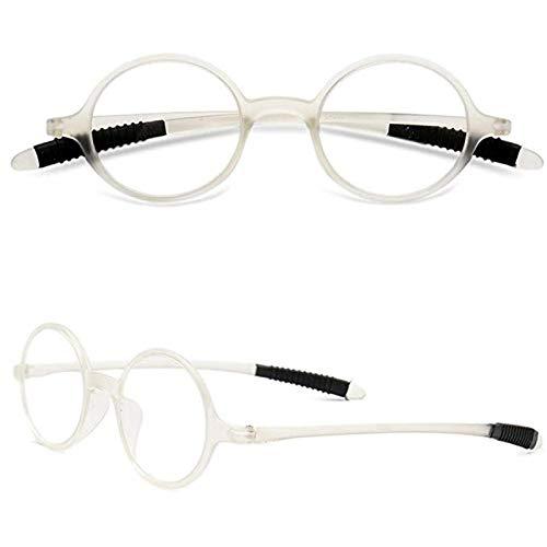 Gafas de Lectura Mujer Hombre Vintage Redondo Gafas de Lectura Flexibles Pequeñas Vista Presbicia 1.0 1.5 2.0 2.5 3.0 3.5 4.0