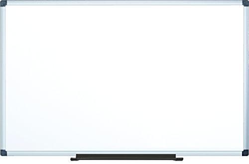 "MasterVision Maya Melamine Dry Erase Board with Tray, 48"" x 96"", Whiteboard with Aluminum Frame"