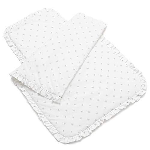 EliMeli Baby Bettwäsche Bettdecke 70x100 Kissen Bettzeug mit Füllung 100% hochwertige Baumwolle Ideal als Babydecke Kinderwagendecke und Kinderbettwäsche für Jungen und Mädchen (Sterne)