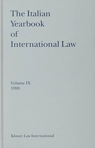 The Italian Yearbook of International Law: 9