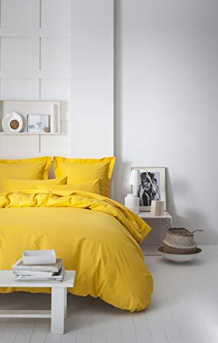 TODAY Funda nordica-140x200 cm-Algodón-Color, amarillo azafrán, 140 x 200