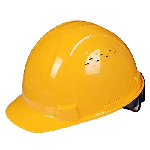 XHDP Sicherheitskopfbedeckungen Bau Verdickung Lüftungstechnik Schutzhelm, geeignet for Energie Bergbau Baustelle Gleisvermessung (Color : A)