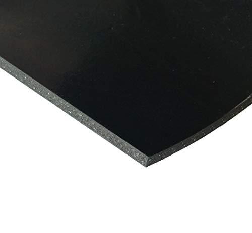Gummistreifen mit Gewebeeinlage - Stärke 3mm in verschiedenen Größen - Industriequalität (2000x80x3mm)