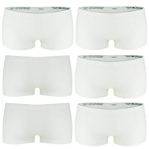 Libella 6er Pack Damen Panties Boxershorts Mikrofaser Seamless 3908 Weiß L/XL