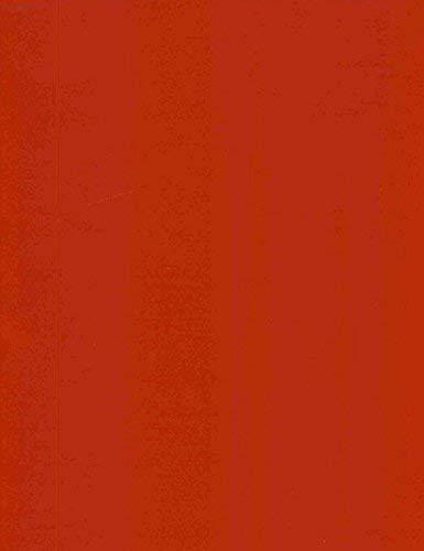 KEVKUS Toile Cirée Nappe Table au Mètre Unicolore Rouge Uni 186 Taille au Choix en Carré Rond Ovale - Rouge, 140x220 cm eckig