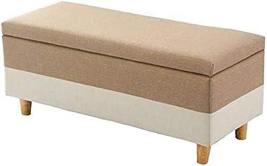 IVHJLP Footrest Safe Storage of Solid Upholstery Wood Puff Practice Versatile CubeMax Loads 300 Kg Gray Living Room (Size: 40