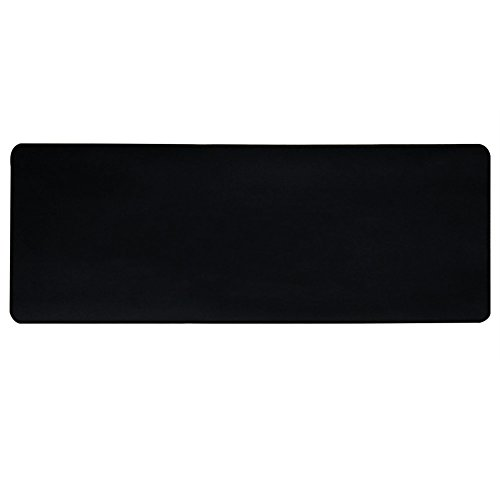 HOOYEE Large Gaming Mouse Pad/Mat with Smooth Surface and Stitched Edges Non-Slip Rubber Base Extended Game Mouse Mat, Stitched Edges 31.5'x11.8'x0.08' (Black)