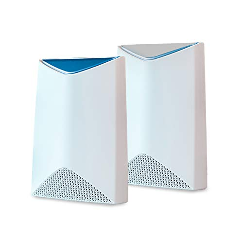 NETGEAR Orbi Pro Tri-Band Mesh WiFi System (SRK60) -- Router & Extender Replacement covers up to 5,000 sq. ft., 2 Pack, 3Gbps Speed Router & 1 Satellite