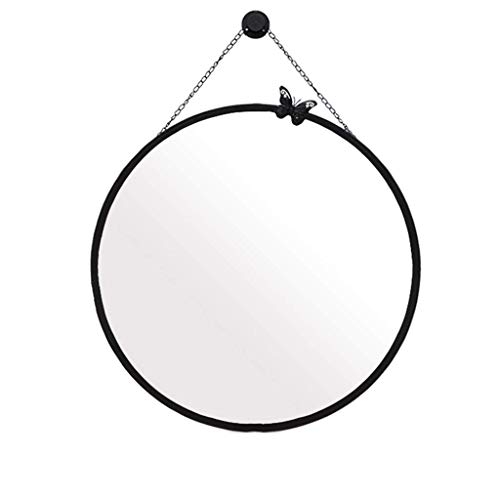 Household Necessities/badkamerspiegel, spiegel, voor volwassenen, douchespiegel, ronde spiegel, toilet 70CM Zwart