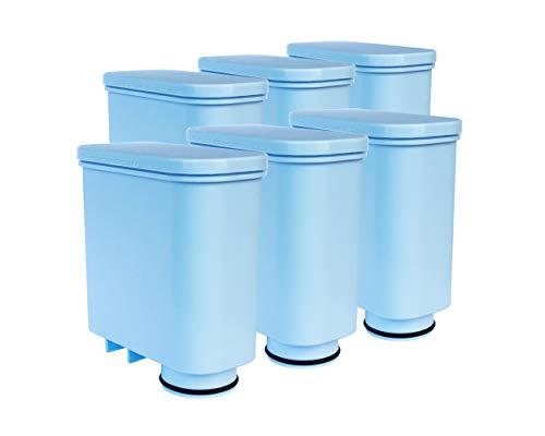 Pack de 6 filtros de agua compatibles con cafeteras automáticas Philips Saeco AquaClean CA6903   00, 01, 10, 22   GranBaristo, Incanto, Intelia Deluxe, PicoBaristo, Exprelia, Xelsis
