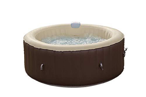 Freebie calentado bañera de hidromasaje inflable, 800 litros, marrón / crema, 180x180x65 cm