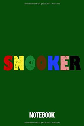 Notebook: Notizbuch Blanko A5 Geschenk Für Snookerspieler / Organizer Mit 120 Seiten Notizen Schreibheft Kariert Planer / Tagebuch Oder Notizheft Für Snooker Spieler