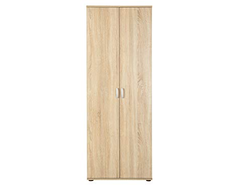 Links 19500100 Gallo Armoire avec 5 étagères 2 portes Chêne de Sonoma 70 x 34 x 189 cm