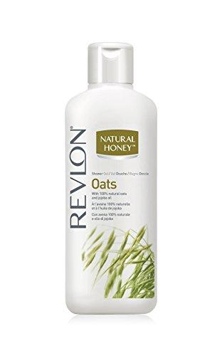 Revlon Natural Honey Shower Gel/Duschgel Oats (Hafer) mit 100% natülichem Hafer und Jojoba Öl - 650 ml