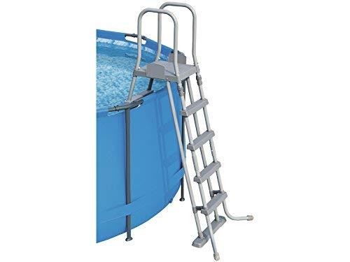 Bestway 58332 - Escalera para piscinas de 132 cm, con plataforma ...