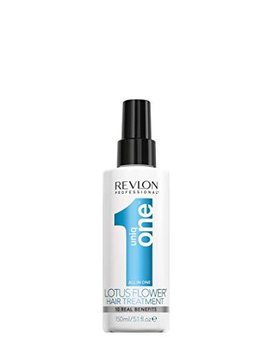 REVLON PROFESSIONAL Uniqone Masque en Spray sans Rinçage Tous Types Cheveux 10 Bienfaits Bleu Lotus