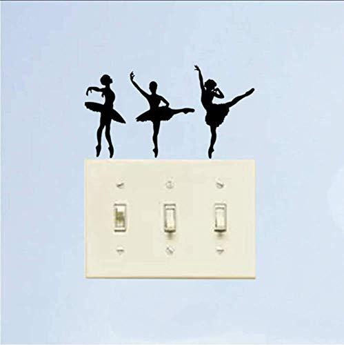 Ballet dansen Ballerina mode Vinyl muur Stickers schakelaar stickers