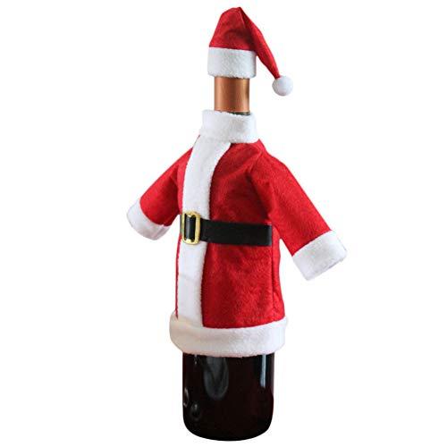 WWLIN Cubierta de Botella de Vino Bolsas Decoración Fiesta en casaRopa Sombrero Navidad