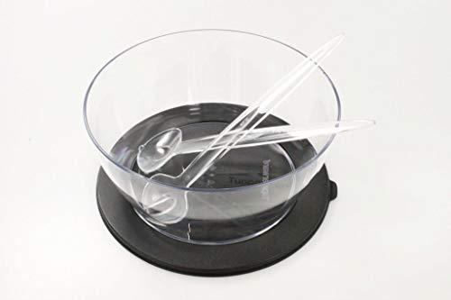 TUPPERWARE Clear Collection 4 L schwarz Schale + Eleganzia Salatbesteck Klare Greifer
