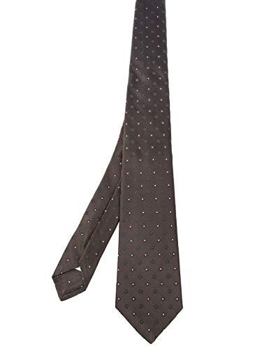 Kiton Luxury Fashion Herren 8D2614BROWN Braun Seide Krawatte | Frühling Sommer 20