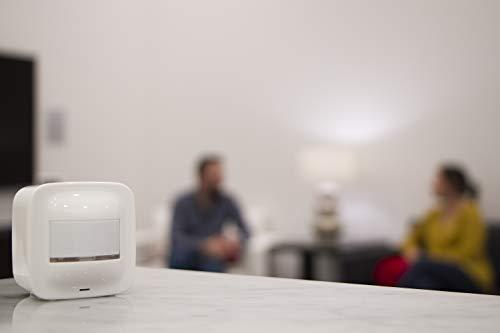 GE Enbrighten Z-Wave Plus Smart Motion Sensor, Table, Shelf, or Wall Mount, On/Off after No Motion is Detected, 180 Degree Detection Range, Scene Activation, Works with SmartThings, Wink, 34193