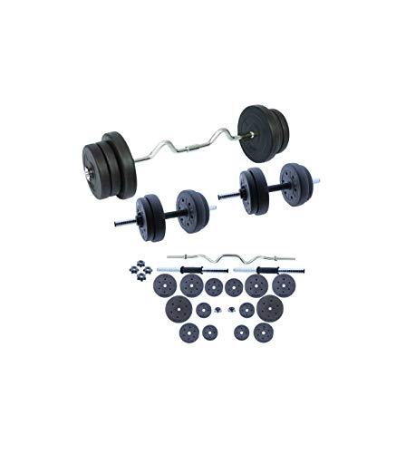 Grupo K-2 | Set de Musculación | Conjunto con Pesas, Barra y Discos 60 KG | Unisex | Entrenamiento de Fitness | Ejercicios de Gimnasio en Casa ⭐