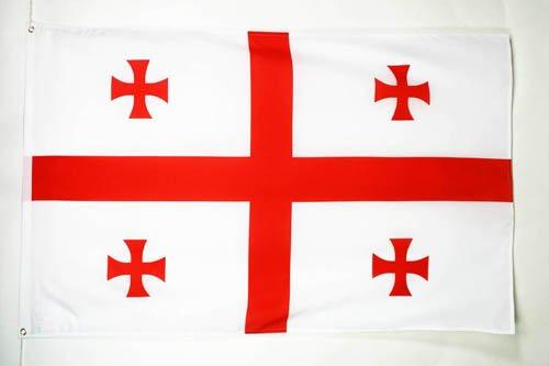 AZ FLAG Flagge GEORGIEN 150x90cm - GEORGISCHE Fahne 90 x 150 cm - flaggen Top Qualität