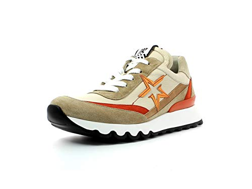 Paul Green Damen Sneaker 4954, Frauen Low-Top Sneaker, leger Halbschuh strassenschuh schnürer schnürschuh sportschuh,Grain/Biscuit,40.5 EU / 7 UK