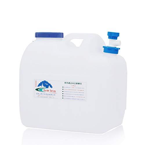 MAGFYLY Recipiente de agua de plástico para el hogar limpio y potable, cubo de agua mineral, tanque de almacenamiento, tanque de almacenamiento portátil para acampar al aire libre (tamaño: 18 L)