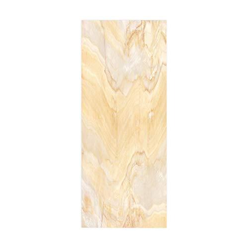 Cartel de la Etiqueta engomada de la Puerta, calcomanía artística, decoración del hogar para el Dormitorio, Vida, montañas brumosas abstractas, tamaño 90 * 200 cm