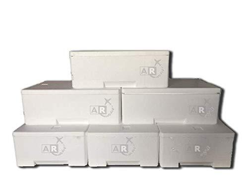 6 unidades – Caja térmica – Caja térmica de poliestireno – Caja térmica – Caja térmica – Transporte para alimentos – De 3/5/6/7/10/15/20/30 kg, 3 KG, Bianco