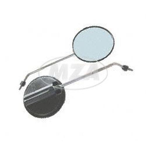 Rückblickspiegel-Set-2 Stück, 120 mm , Gewinde M 8, Spiegelarm Edelstahl, rechts u. links verwendbar