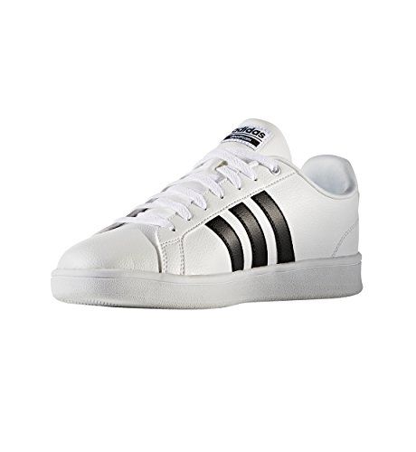 adidas Men's Cloudfoam Advantage Sneakers, White/Black/White, (9 M US)
