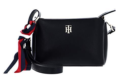 Tommy Hilfiger Damen Handtasche Tasche Charming Tommy Crossover Schwarz