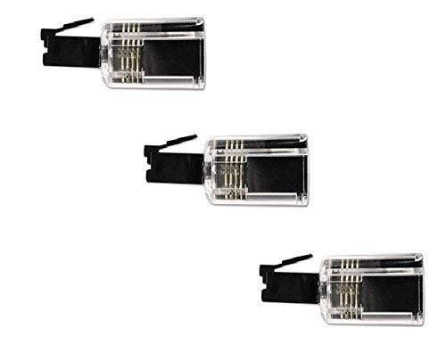 DragonTrading® 360 drehbarer Entwirrer für Telefonkabel, 3 Stück, durchsichtig/schwarz