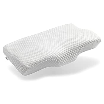 Ximoon Memory Foam Pillow for Sleeping Cervical Pillow for Side Sleepers Orthopedic Contour Pillow for Neck Back Shoulder Pain  Washable Pillowcase with Zipper