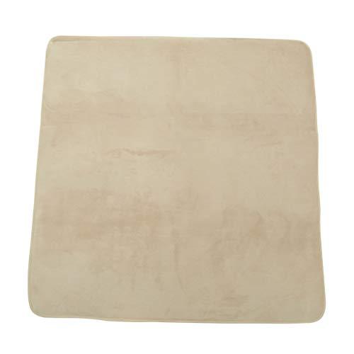 Générique Sharplace Tapis Super Doux Coussin Tapis de Sol pour Enfants Tapis de Jeux et d'Eveil Tente Maison 120 x 120cm - Marron