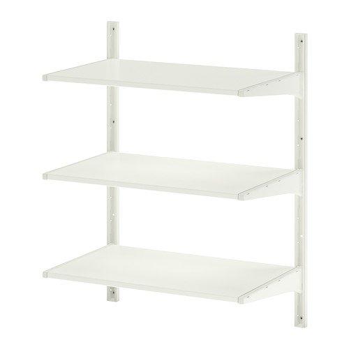 IKEA ALGOT -muur rechtop / planken wit - 65x40x84 cm