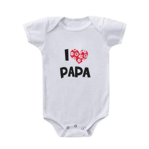 YWLINK Mameluco con Estampado De DíA De San ValentíN con Letra De Manga Corta para Bebé Conjunto Mameluco para Bebé NiñA con DiseñO Bodysuits and Pants Set Bebé-NiñAs