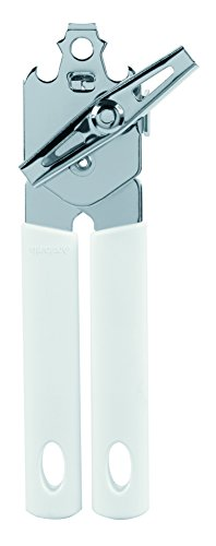 Brabantia' Classic Can Opener with Metal Handle, Stainless Steel, White, 4.8x5.1x9 cm