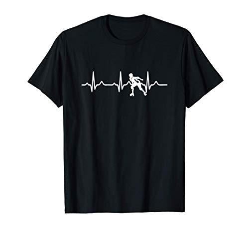 Roller Herzschlag Geschenk Rollschuhe Derby T-Shirt