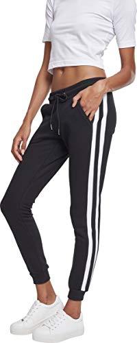 Urban Classics Damen Ladies College Contrast Sweatpants Hose, Mehrfarbig (Black/White/Black 01293), W32 (Herstellergröße: 3XL)