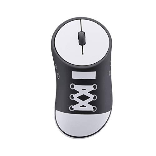 B Blesiya Los Zapatos 1200DPI Inalámbricos del Ordenador Portátil Forman El Ratón óptico Silencioso del USB 3 Colores - Negro