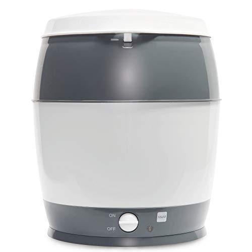 MAM Sterilisator, elektrischer Dampfsterilisator für Babyflaschen, Sauger & Zubehör, zuverlässiger Vaporisator inkl. Oberkorb und Zange, grau