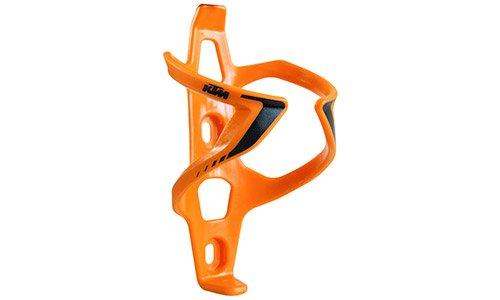 KTM MTB Fahrrad Flaschenhalter - Wing II - Orange/Schwarz + Schlüsselband + Bisomo-Sticker