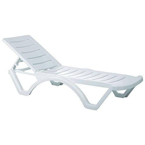 Compamia Aqua Pool Chaise Lounge in White - Set of 4