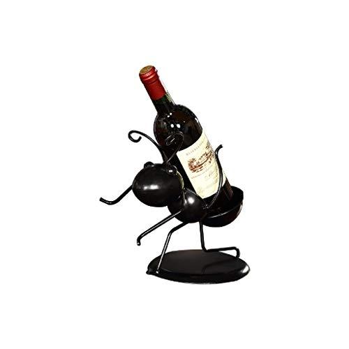 NXYJD Ferro Wine Rack Metallo Tavolo cremagliera del Vino, Champagne Supporto dell'esposizione Cucina for Singola Bottiglia