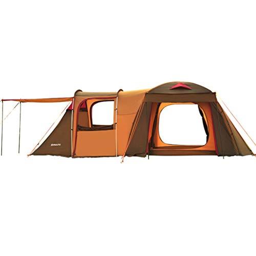 Tent chapiteaux Tunnel De Qualité De Camping Extérieure pour Augmenter La De Camping Camp 5-8 Personnes Familiale Deux Chambres À Coucher